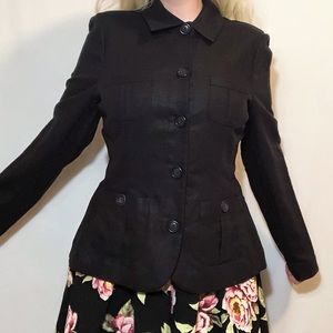 Très You NWOT black button up blazer jacket